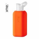 >me flaske i glas, orange