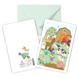 Bondegård, dobbelt kort m/kuvert