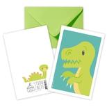 Dinosaur, dobbeltkort m/kuvert