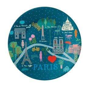 Paris Pastel tallerken, Blå
