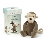 Min første abe, i æske