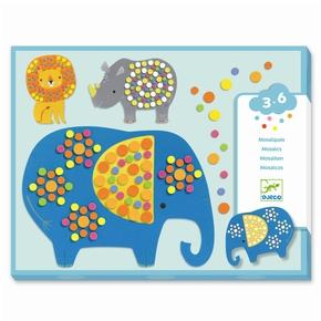 Kreativ mosaik, jungle dyr