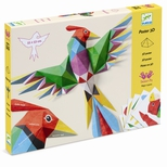 Kreativ papirfoldning -3D plakat, Papegøje