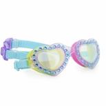 Svømmebrille, hjerte blå