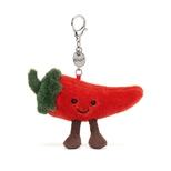 Amuseable Chilli, vedhæng til taske 13 cm