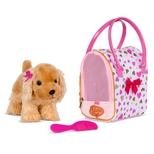 Pucci hund i taske, guld & pink hjerter