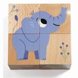 Billedeklodser i træ, Elefant & co.