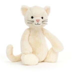 Bashful Hvid Kat, mellem 31 cm